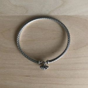 David Yurman Jewelry - David Yurman 3mm Starburst Diamond Cable Bracelet